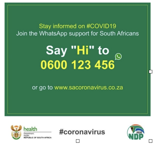 National #COVID19 WhatsApp
